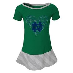 Girls 4-6x Notre Dame Fighting Irish Fancie Dress, Girl's, Size: M(5/6), Blue (Navy)
