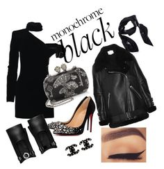 Back to black All Black Outfit, Back To Black, Acne Studios, Monochrome, Alexander Mcqueen, Yves Saint Laurent, Christian Louboutin, Chanel, Polyvore