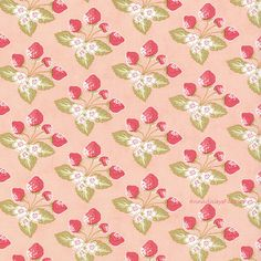 Moda Fig Tree Strawberry Fields Revisited by AnnadaisysFabrics