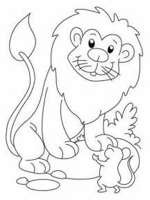 Related Image Lion The Mouse Coloring Pages Coloring Books