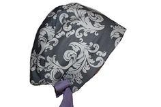 Surgical Scrub Hat Chef Chemo Cap EuroGlam Pixie Grey Damask Lilac Purple Scrumptious Scrub Hatz http://smile.amazon.com/dp/B00SLGYAA6/ref=cm_sw_r_pi_dp_TSZsvb1ZS43W8