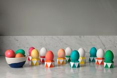 Faceted Paper Egg Cups DIY | Oh Happy Day!