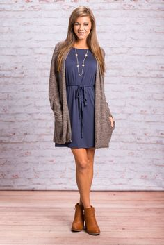 """""""Sweet And Slouchy Cardigan, Black"""" This cardigan is totally sweet and slouchy in the best way possible! The fabric is light and it layers so well over most outfits! We also really love when cardis have pockets! Honestly, we love when anything has pockets! #newarrivals #shopthemint"""