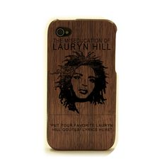 Lauryn Hill iPhone case. Customize it! You can put your favorite Lauryn Hill lyrics/qoute at the bottom. case by choosing fIts made with real wood and laser engravedby WoodiPhoneCases, $55.00