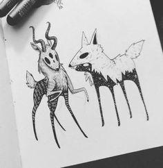 New travel design website art illustrations 70 ideas Art And Illustration, Art Illustrations, Animal Drawings, Art Drawings, Dessin Old School, Character Art, Character Design, Creepy Art, Watercolor Artists