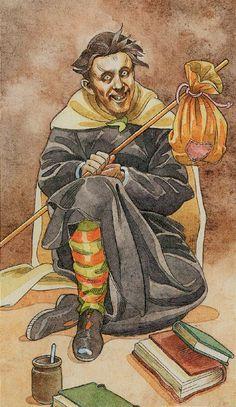 The Sorcerers Tarot:  Tarô e Profissões: Louco