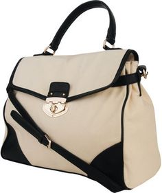 Forever 21 Contrast Canvas Satchel