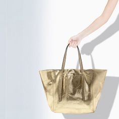 ZARA - WOMAN - CRACKLED LEATHER SHOPPER
