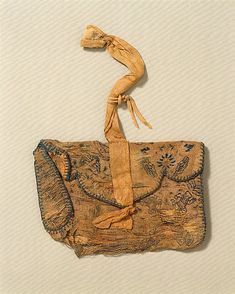 Purse- Period: Tang dynasty (618–907) Date: 8th–9th century Culture: China Medium: Silk