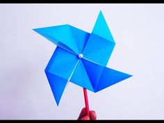 how to make a paper windmill (tutorial) paper pinwheel - YouTube