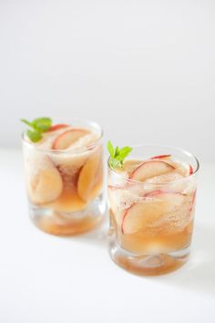 "Summer Bourbon Peach Cocktail | ""If you're looking for a different kind of drink for a crowd the next time a few of you and your friends decide to sit outside for cocktails, this is what you need to mix. The smell is heavenly and this cocktail toes the line between light and dark."" /CarleneRD/"