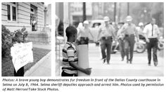 This precious baby protesting and then arrested. How old was he here and what happened to him, I wonder?