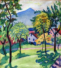 LAWRENCE LEE MAGNUSON: August Macke (1887-1914) Tegernsee Landscape...