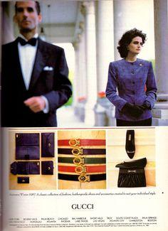 1987 Gucci Shoes Accessories Fashion Print Ad Advertisement Vintage VTG 80s | eBay