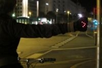 Light-up gloves that help bikers signal when turning at night