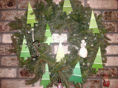 Paint chip sample Christmas tree wreath by Stephanie