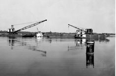"""The Tug Quarterhorse sank in Wolf Bay, Alabama about 1969 while towing barges. It was presumed that the towed barge was blown by a storm and """"tripped"""" the tug, capsizing her with a loss of one life, that of the engineer who slept in a cabin just forward of the engine room, who drowned."""