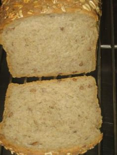 Ezekiel bread! It's so delicious, even super-picky Simon loves it. I make about two loaves every 10 days or so. Deliciously crusty straight out of the oven.