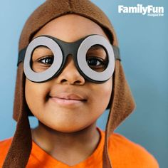 Ace Pilot Cap and Goggles: A no-sew cap and goggles create the perfect look for would-be barnstormers.