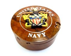 Amazing Gift, hand-carved Military Puzzle Box with red velvet inside. Dimensions: 4 1/2'' x 4 1/2'' x 2''