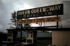 Odeon Qeensway Drive In.   Queensway and Montreal Road. It opened in 1964 closed 1986. We went to the drive-in quite often on Saturday nights with the kids.  In 1985 a projectionist was stabbed in the abdomen, because he asked  some kids to turn off their loud music. A 25 year old man was charged with 1st degree murder. Drive In Theater, Movie Theater, Charles Bronson, Turn Off, 25 Years Old, Ottawa, Montreal, Ontario, Vintage Photos