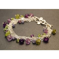 Clusters Of Amethyst Bracelet  To go with http://pinterest.com/pin/275212227201221227/ #PatraSelection #style