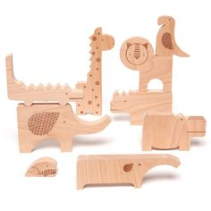 Rosenberry Rooms has everything imaginable for your child's room! Share the news and get $20 Off  your purchase! (*Minimum purchase required.) Safari Jumble Wooden Puzzle and Block Set