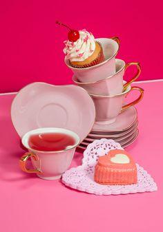 Dream and Sugar Tea Set in Petal, #ModCloth