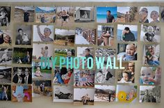DIY photo wall with tutorial. home