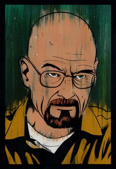 Walter White by Lowercase Industry S/N'd Breaking Bad Poster Breaking Bad Poster, Breaking Bad Art, Print Release, Walter White, Lowercase A, Watercolor Paper, Poster Prints, Posters, Graphic Illustration