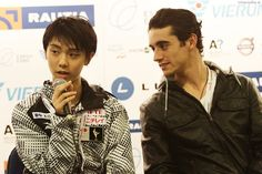 Yuzuru Hanyu(JAPAN) and Javier Fernandez(Spain)