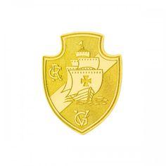 4ce5ba83f4f10 Broche em Ouro 18k Escudo Vasco da Gama- ac06887