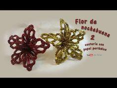 Flor de nochebuena 2 cestería con papel periódico – Flower of Christmas Eve basketry with newspaper - YouTube