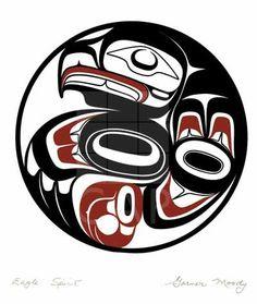 Canadian Indian Art - Eagle Spirit Print   Canadian Indian Art