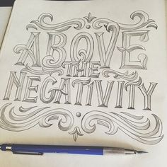 A collection of spectacular examples of hand lettering