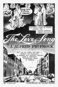 comic version of The Love Song of J.Alfred Prufrock