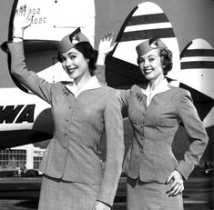 1950s TWA Airline Stewardesses.