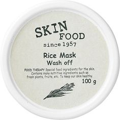 Skinfood Wash Off Rice Mask TIP: use the mask in the shower. Put it on before you wash your hair, and rinse it off afterwards. The steam from the shower will open up your pores, so it will work even better.