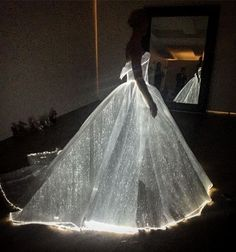 Designer Zac Posen proudly shared the dress in its full lit-up glory on his Instagram account