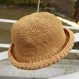 Mama の hand-made hat - handmade cotton rope crocheted hat / wide-brimmed hat / gifts / Mother's Day - Designer minibobi - Pinkoi
