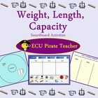 This Weight, Capacity, Length Smartboard Unit can be used in a first and second grade classrooms to teach weight, capacity, and length.This Weight, Capacity, Length Smartboard Unit can be used in a first and second grade classrooms to teach weight, capacity, and length. If using Envisions, it complements Second Grade Envisions Unit 13. Only a $!