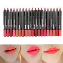 19 couleurs Sexy beauté étanche crayon à lèvres rouge à lèvres brillant à lèvres Liner lèvres(China (Mainland))