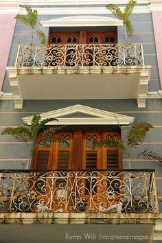 architecture in puerto rico | Puerto Rico, San Juan. Facades of Old San Juan architecture of Puerto ...
