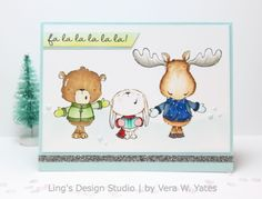 Vera Yates - Snow Day Singing Card