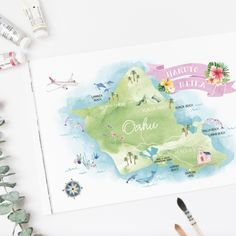 海外ウェディングの方は招待状セットの返信ハガキが必要ない方がほとんどですよね。そんな花嫁様のためにEYMでは招待状セットをご購入いただいたお客様で返信はがきが不要な花嫁様には、オアフ島の地図を無料でプレゼントいたします! デザイン内にはおふたりのお名前と式場名が入れられます♪もちろん単品でのご購入も可能です♡こちらの商品はウェディンググッズ、ペーパーアイテム通販サイトEYMにて販売中です。