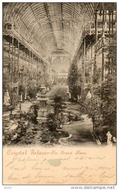 Stamps, coins and banknotes, postcards or any other collectable items are on Delcampe! Exhibition Building, Exhibition Space, Crystal Palace, Hyde Park, Palace London, Glass Structure, Uk History, Glass Houses, Forest Hill