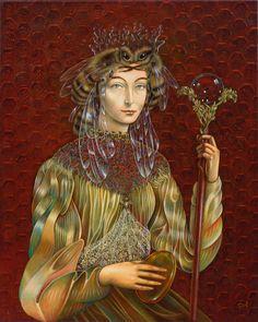 David, Of Montreal, Montreal Canada, Surrealism Painting, Goddess Art, Bee Art, Honey Colour, Bees Knees, Sacred Art