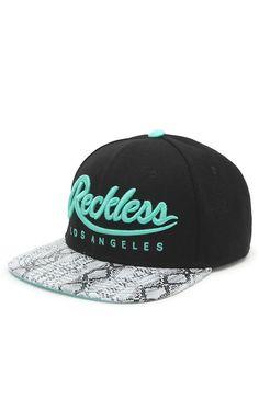 Young & Reckless Big R Script Snapback Hat - Mens Backpack - Black/Mint - One