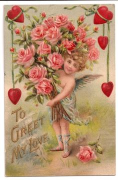 Early Valentine Postcard To Greet My Love @ Vintage Touch $5.00