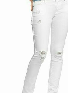 """NWT"" Old Navy Flirt Jeans in the color  WHITE Brand New White pair of  Old Navy The Flirt Skinny Jeans, distressed. Old Navy Jeans Skinny"